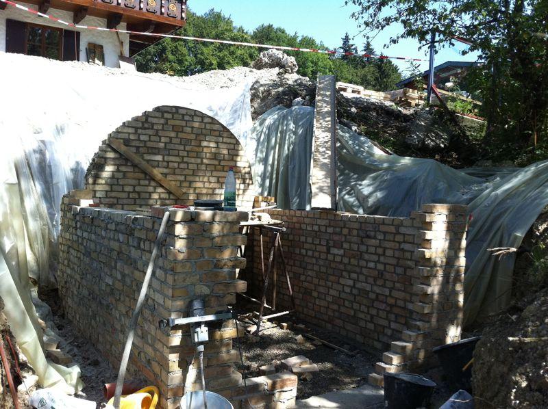Mauert man gewölbe wie ein Lehmbrotbackofen bauen